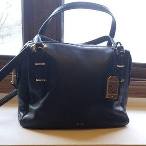 Black Ralph Lauren leather handbag